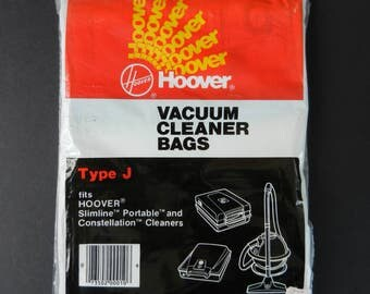 NOS Hoover Vacuum Cleaner Bags, Type J, FREE SHIPPING, Package of 4, Slimline Portable Bags, Constellation Cleaner Bags, Hoover Sweeper Bags
