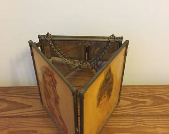 Victorian tri fold mirror
