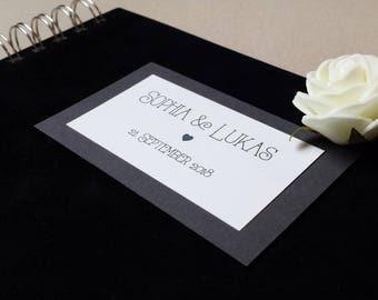 Guest book, wedding, Gothic