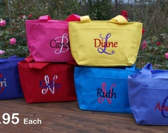 Personalized Monogrammed Lunch Bag Cooler  Box Insulated school teacher lunch bag lunch tote lunchbox kids childrens