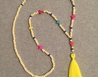 Edith tassel necklace