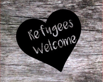 Refugees Welcome - Vinyl Decal