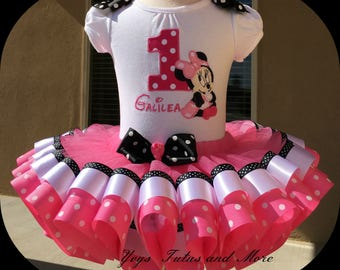 Minnie  Mouse  Tutu Set ( Ribbon Trim)