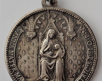 Antique Religious Medal St. Anne