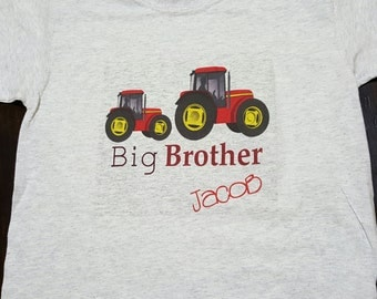 Big brother tractor shirt | new sibling shirt | tractor big brother