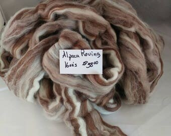 Alpaca combed Top one pound Browns Tans
