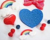 MADE TO ORDER Rainbow Theme Handmade Custom iPhone Samsung Decoden Case