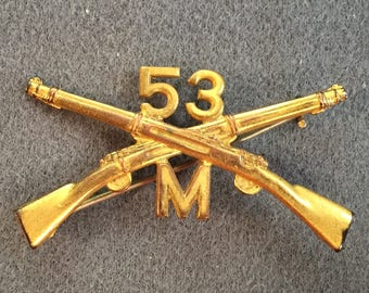 Military Pin-Crossed Rifles, 53.  Free shipping