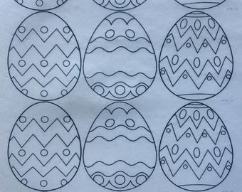 Edible Easter Egg Paint-Your-Own Wafer Designs
