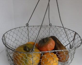 Large Chicken Wire Gathering Basket