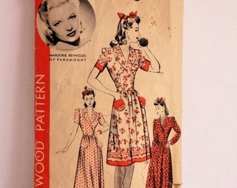 House Coat or Dress Pattern. 1940's Pattern