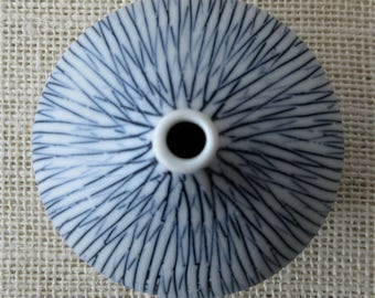 Striped Taper Ceramic Vase