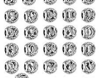 Authentic Pandora Sterling Silver ALPHABET LETTER Charms