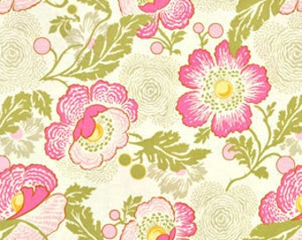 MIDWEST MODERN by Amy Butler - Fresh Poppies in Fuchsia - Fabric - Rowan - Westminster Fabrics - Quilting - Vintage - Sewing - Floral Flower