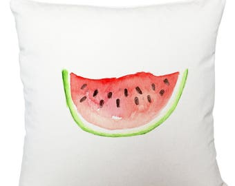 Cushions/ cushion cover/ scatter cushions/ throw cushions/ white cushion/ watermelon cushion cover