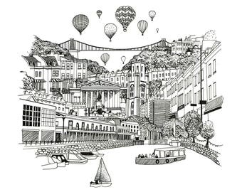 Linear Bristol Drawing
