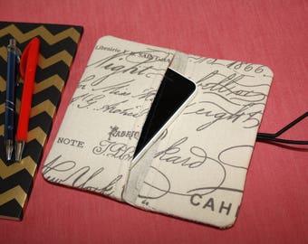 Two pockets 2 in 1 Geldbörse & Handytasche,Phone Case, iPhone 6s Wallet, iPhone 7 Case / Fabric Phone Case, Smartphone Case,  iPhone 6 Case