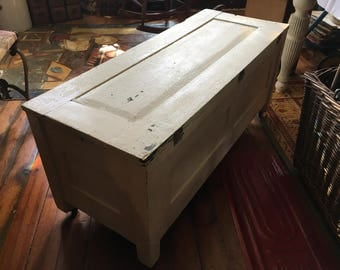 """Primative Wooden Chest/Trunk Approx 1900, Approx 39"""" long x 15"""" deep x 17"""" tall, see shipping details"""