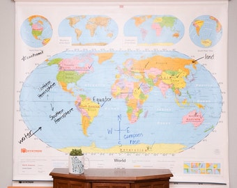 Vintage School Maps (World/US)