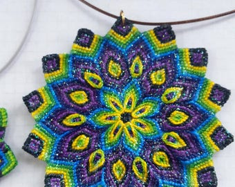 Macrame Mandala Necklace