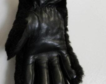 Beaver Lamb & Leather Gloves