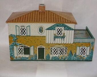 Vintage all metal aluminum doll house large