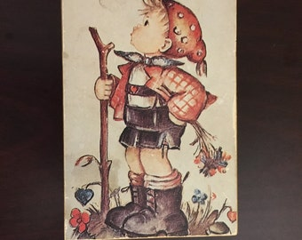 "Vintage Reuge Music Box, plays ""It's a Small World, Hummel, Swiss Musical Movement, Children"