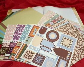 "Ready Made Scrapbook Kit - Scrapbook Paper - Embellishments - 12""x12"" Scrapbook"