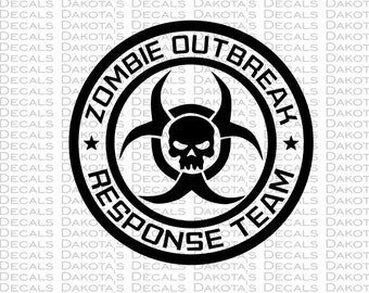 Zombie Outbreak Response Team SVG for Download