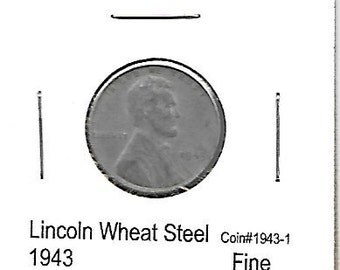 Lincoln Wheat Steel Cent Lot 1943-43D