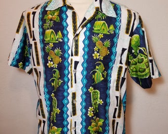 FREE  SHIPPING   1960  Men  Hawaiian  Shirt