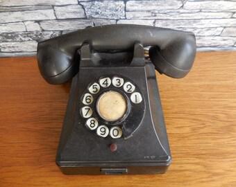 Black bakelite Telephone 1950's