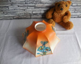 Vintage French glass lampshade