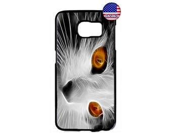 Fancy Cat Kitten Kitty Beautiful Hard Rubber TPU Case Cover For Samsung Galaxy S8 S7 S6 Edge Plus S5 S4 S3 NOTE 5 4 3 2 iPod Touch 4 5 6