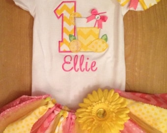 Pink Lemonade Birthday Tutu Outfit