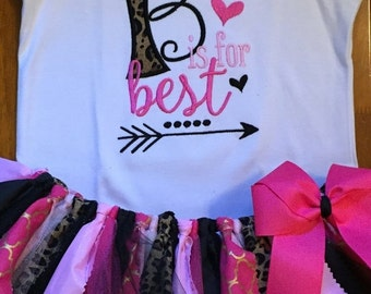 B is for Best Friend Tutu Outfit