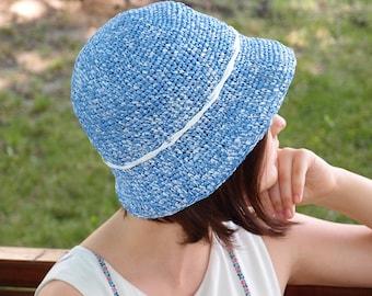 Crochet Hat, Girls Hat, Brim Hat, Сloche Hat