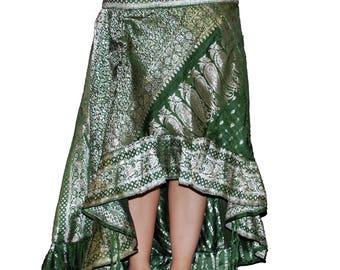 Skirt Handmade with Sari Silk
