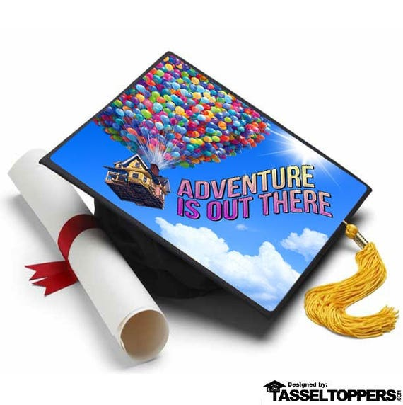 Adventure Is Out There Decorated Grad Cap - Decorating Kit ...