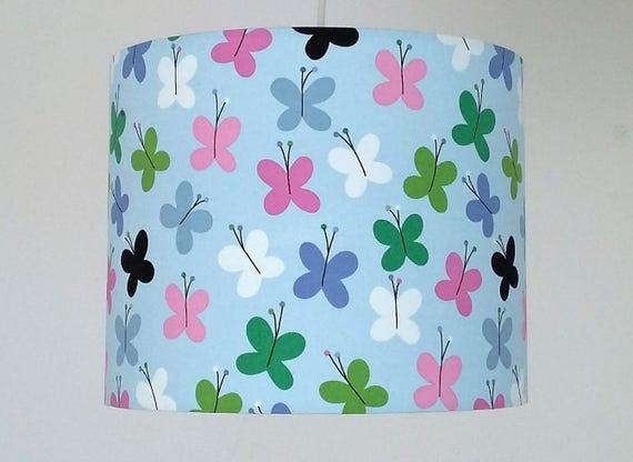 butterfly lampshade nursery girl decor nursery lighting. Black Bedroom Furniture Sets. Home Design Ideas