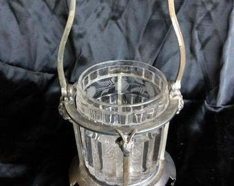 Old Antique Rams Head Meriden Silver Plated Silverplated Pickle Caster Castor
