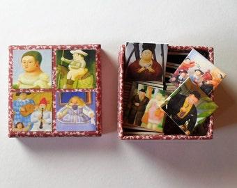 memory game matching game Botero artist art