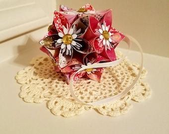 Cherry Blossom Origami Kusudama Flower Ball