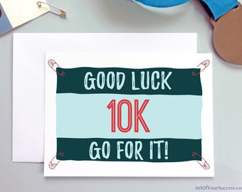 10k Good Luck card, running card, card for runner, 10k race, runner card
