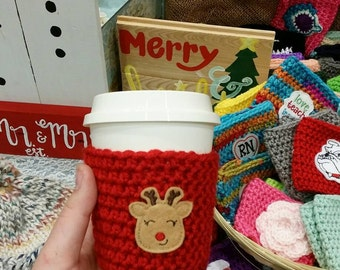 Crochet cup cozy *most ready to ship*