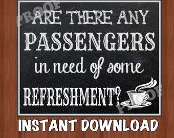 Polar Express Refreshments Sign - Refreshment Sign - Polar Express Signs - Party Signs - Hot Chocolate -  Instant Download - 8x10 - 5x7