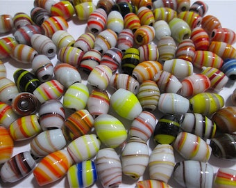 Destash of 24 Vintage Lampwork Glass Beads