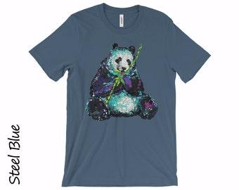 PANDA T-shirt Unisex Tshirt Women's T-shirts Mens T-shirt PANDA BEAR T-shirt Cotton T-shirt Graphic T-shirts Panda Tee Funny Tshirt Gift