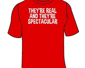 They're Real And They're Spectacular T-Shirt. Funny Seinfeld TShirt Vandelay Boobs Tees