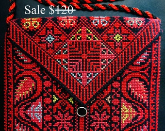 SALE !  Red Kindle 4 - 5 / Kindle Paperwhite / Nook Simple Touch / KoboTouch / iPad case hand embroidery